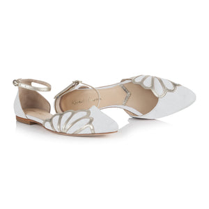 Amber Ivory Suede Ladies Shoes Rachel Simpson Limited
