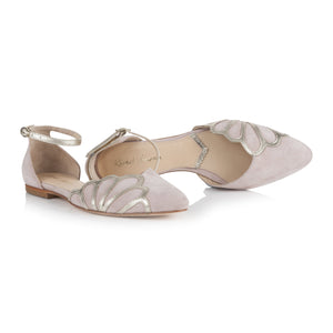Amber Powder Pink suede Ladies Shoes Rachel Simpson