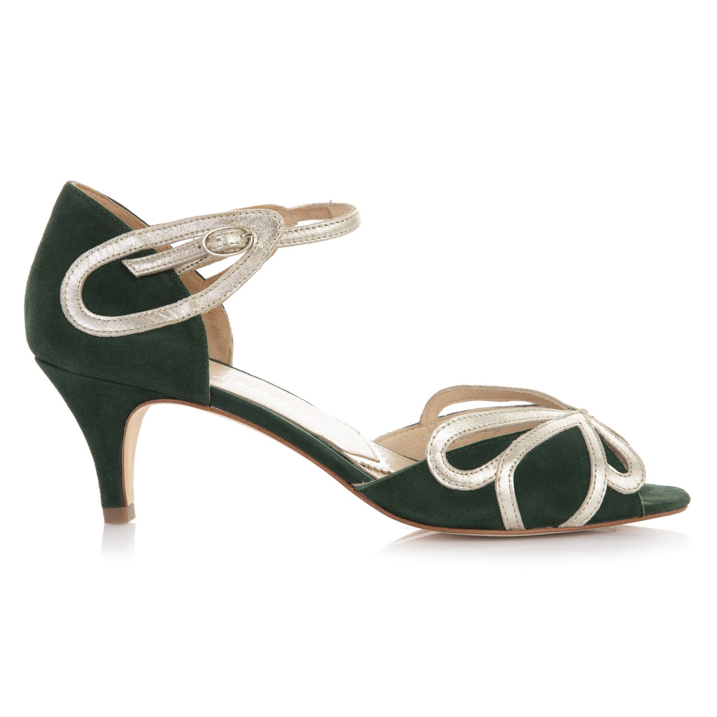 Cecelia Forest Green Ladies Shoes Rachel Simpson 35