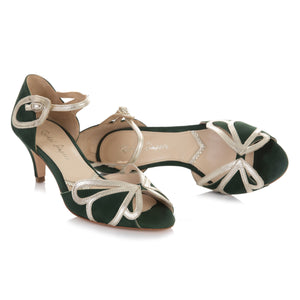 Cecelia Forest Green Ladies Shoes Rachel Simpson