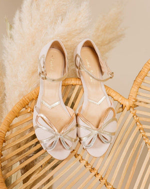 Fern Blush Ivory suede Ladies Shoes Rachel Simpson