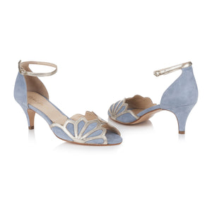 Isadora Dusky Blue Ladies Shoes Rachel Simpson