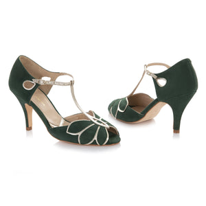 Mimosa Forest Green Ladies Shoes Rachel Simpson