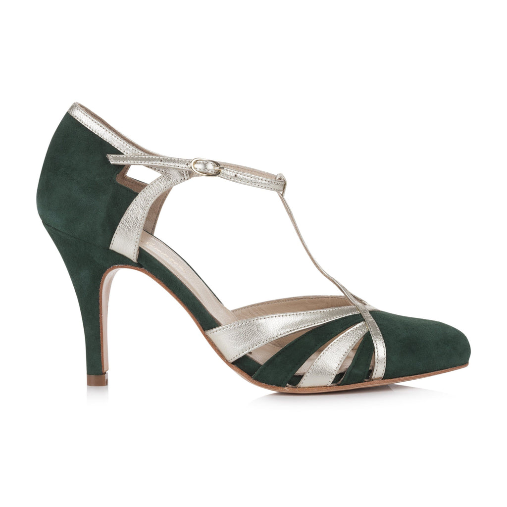 Paloma Forest Green Ladies Shoes Rachel Simpson 35