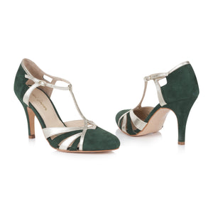 Paloma Forest Green Ladies Shoes Rachel Simpson