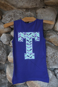 Herringbone Tribal Youth Tank Tops
