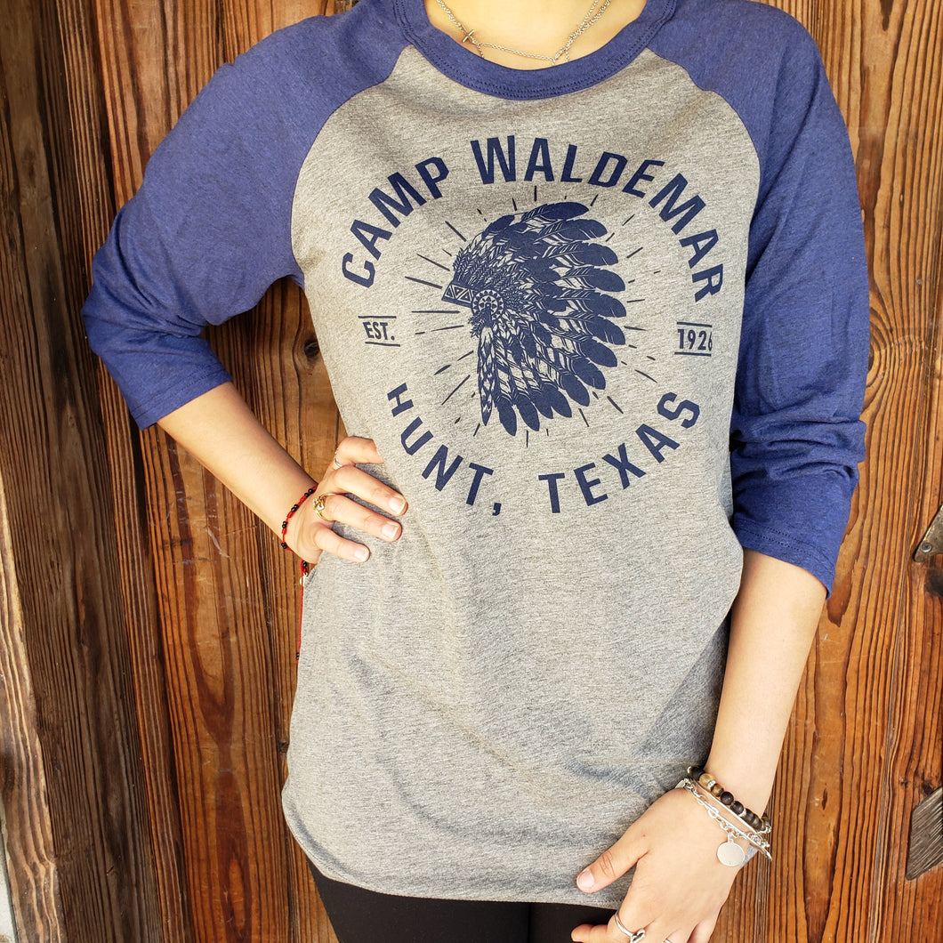 Indian Headdress Baseball Tee
