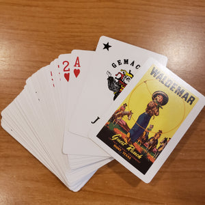 Trickropin' Cowgirl playing cards