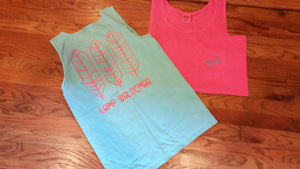 3 Feather Pocket Tank Top