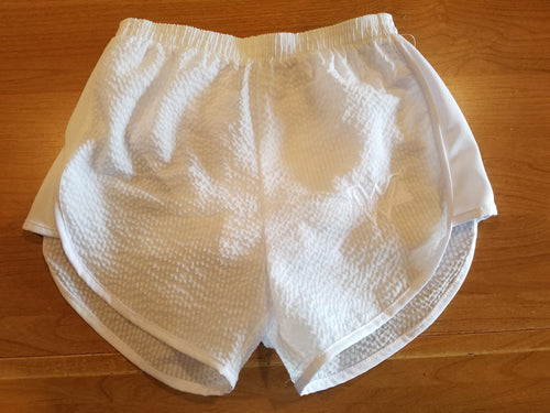 Azarhia White Seersucker Shorts