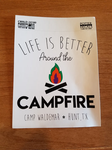 Better Around the Campfire decal