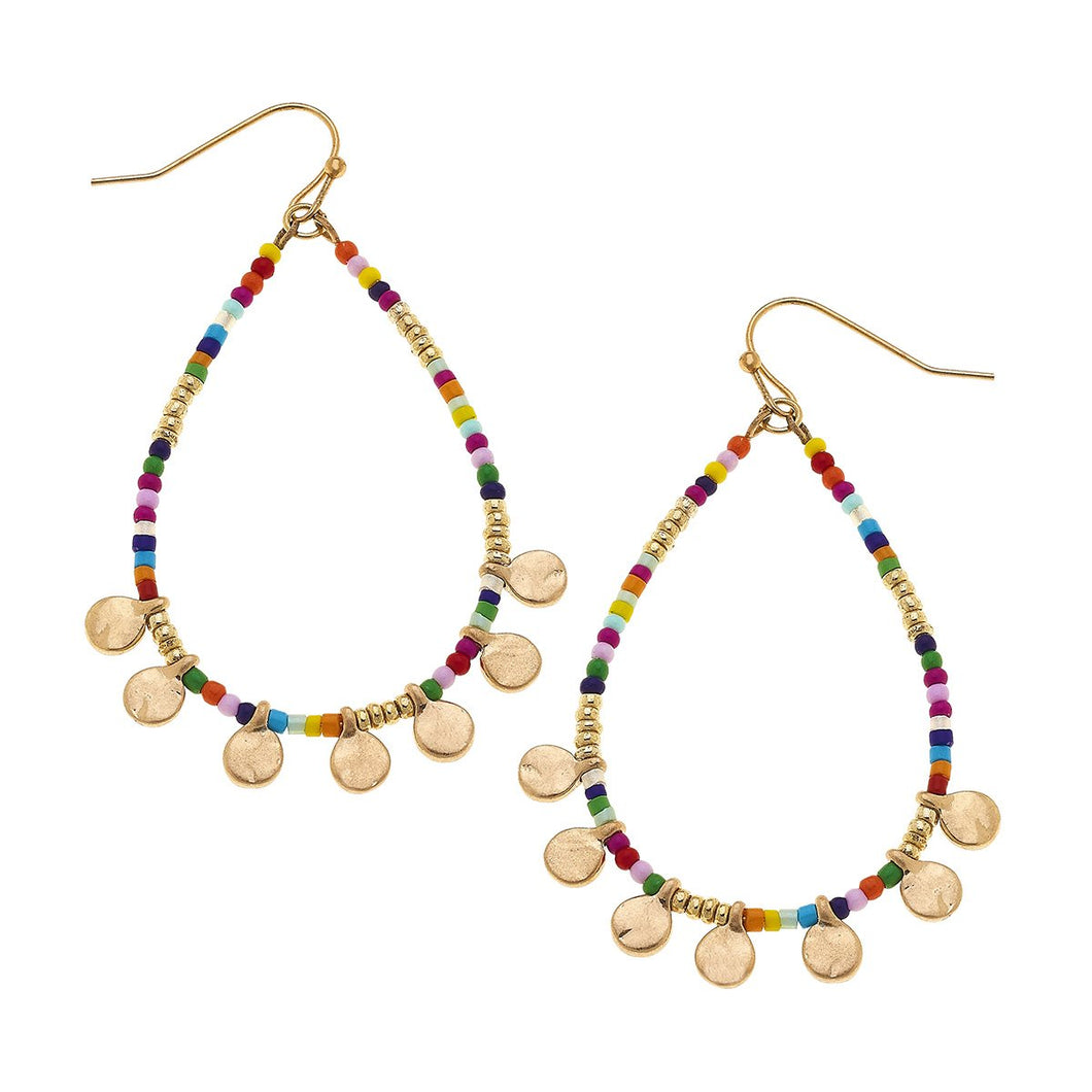 Neve Disc Teardrop Hoops