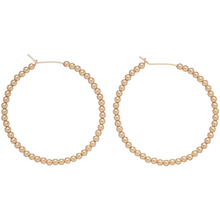 Load image into Gallery viewer, ENewton Beaded Gold Hoops