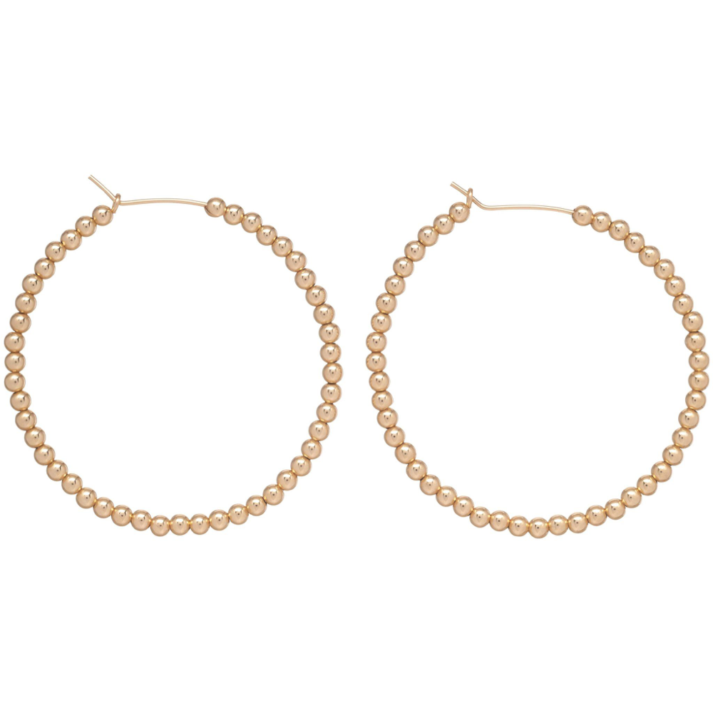 ENewton Beaded Gold Hoops