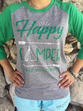 Load image into Gallery viewer, Happy Camper Raglan Tees
