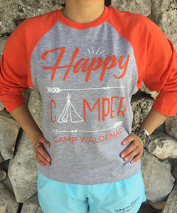 Happy Camper Raglan Tees