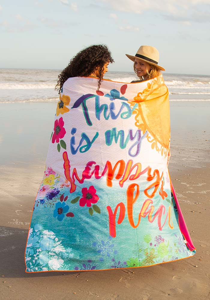 Natural Life Double Microfiber Beach Towel