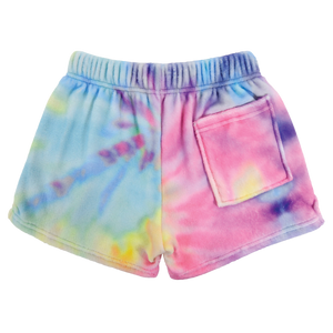 Iscream Pastel Tie-Dye Plush Shorts