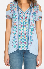 Load image into Gallery viewer, Johnny Was Clover Cold Shoulder Tee