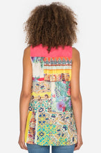 Load image into Gallery viewer, Johnny Was Patchwork Scarf Back Tank