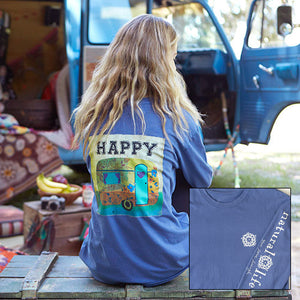Natural Life Happy Camper Long Sleeve Comfy Tee