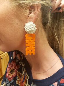 Tribal Sayings Acrylic Earrings