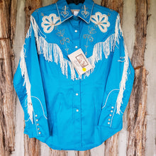 Load image into Gallery viewer, Rockmount Women's Turquoise Fringe Embroidered Western Shirt