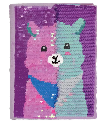 Iscream Sequin Llama Journal