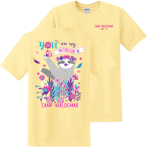 Sunshine Sloth t-shirt