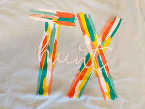 Hunt, TX Brushstroke t-shirt