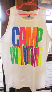 Camp Waldemar Neon Stacked Tank Top