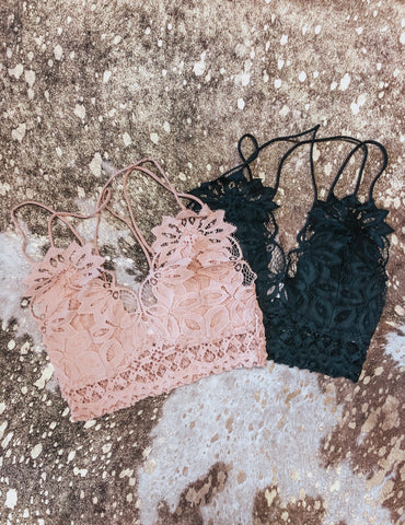 All Over Lace Bralette - Taupe