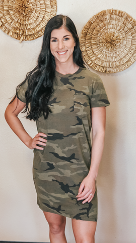 Kick Back Dress - Camo