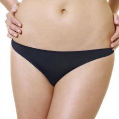 3379 Panache Porcelain Thong (Black)