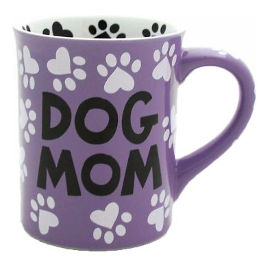 """Dog Mom"" Coffee Mug, 16-oz"