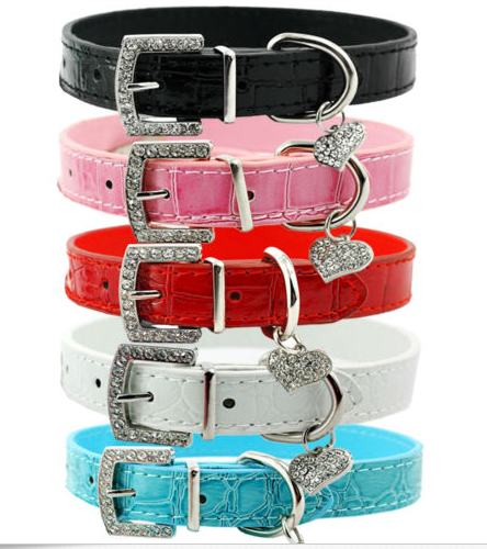 Croc Leather Dog Collar