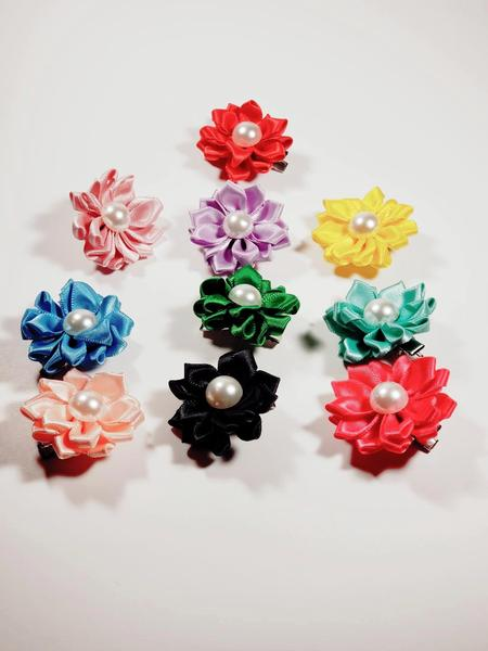 "10 pc  Clip ""Petal Flowers"" Hairpin with Pearl"