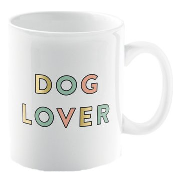"""Dog Lover"" Coffee Mug, 15-oz"