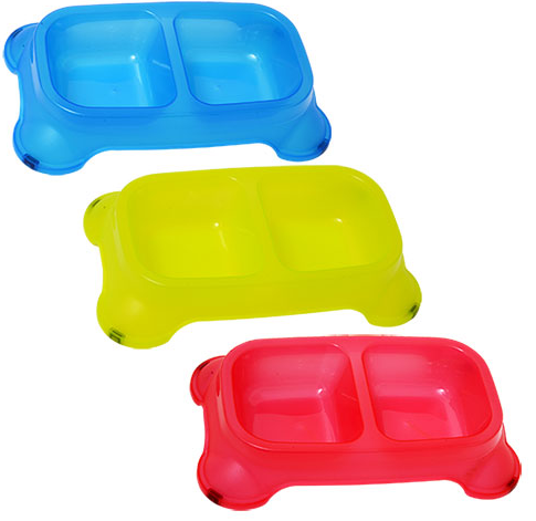 Plastic Divided Pet Bowls