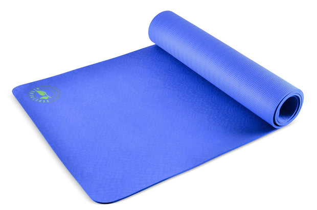 Algae Bloom Striking Blue Yoga Mat 1
