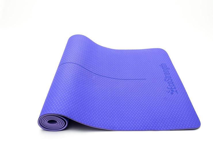Blue Reversible Yoga Mat - EcoStrength