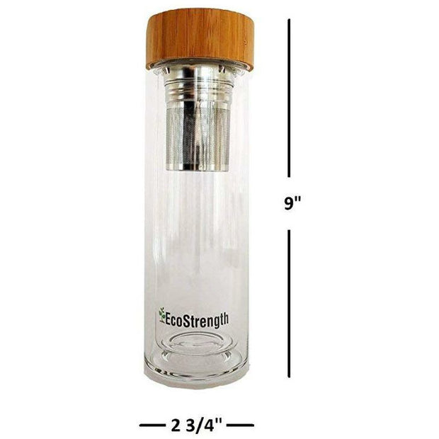 Glass Water Bottle and Tea Infuser 1