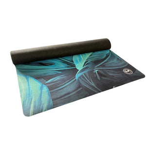 Microfiber Travel Yoga Mat (1.5mm) Botanical Print