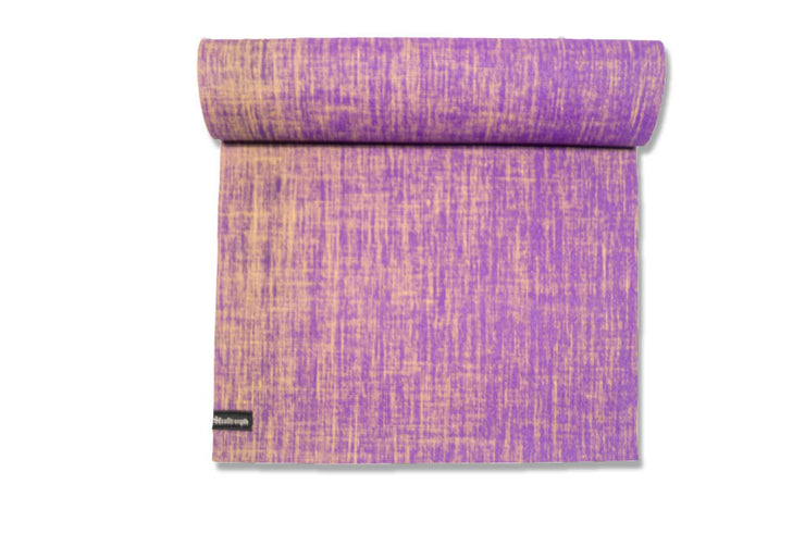 Purple Orchid Jute Blend Yoga Mat - EcoStrength