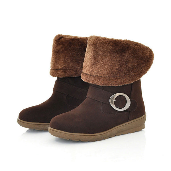 Women Winter Keep Warm Outdoor Casual Cotton Short Snow Boots