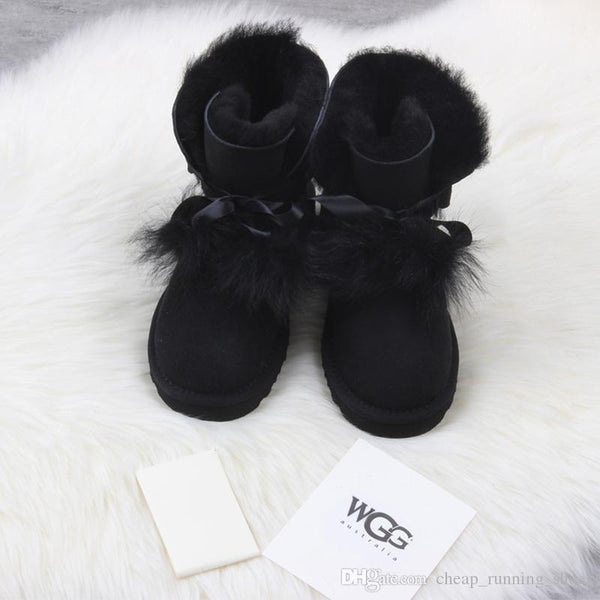 2018 Newest winter Australia Classic snow Boots High Quality WGG tall boots real leather Bailey Bowknot women's bailey bow Knee Boots shoes