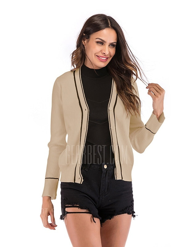 Women Button Knit Cardigan Coat-