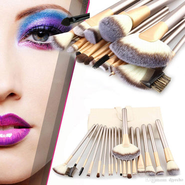 24/18/12pcs Professional Luxury Makeup Brushes Champagne Gold Make Up Brush Set Cosmetic Brush Beauty Maker pincel maquiagem Tools