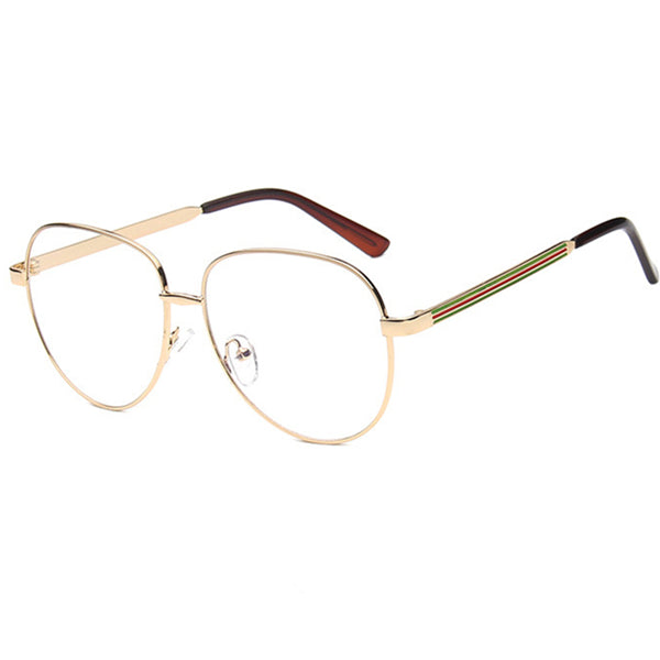 Women Metal Frame Eyeglasses Clear lens Vintage Retro Geek Fashion Glasses