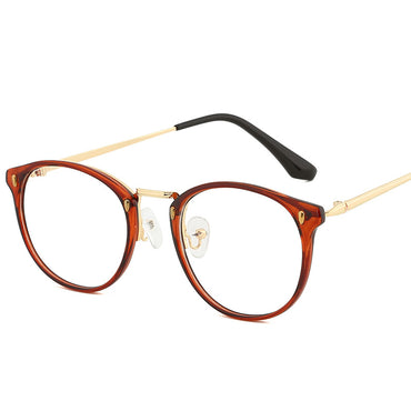 Women Metal Frame Blue Light Blocking Glasses